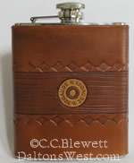 Leather Flask, 12 Gauge Design