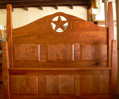 Texas Star 4 Poster Panel Bed