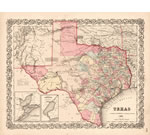Texas 1856 Historical Map