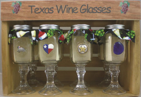 Texas Wine Glasses