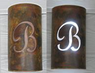 Copper Sconces - Custom Letter