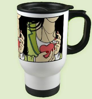 Hang On To Your Heart Travel Mug