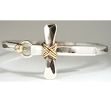 Sterling Cross Bracelet