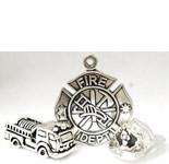 Firefighter Earrings, Tie Tacks