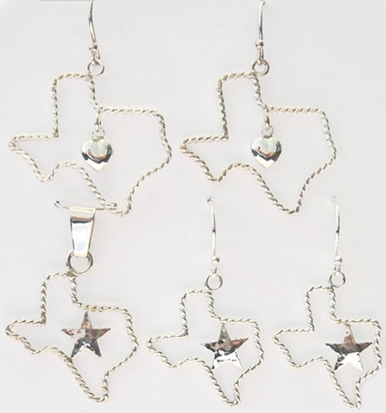 Texas Shaped Jewelry