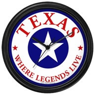 Texas Legends Wall Clock