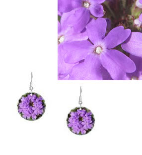Flower Earrings - Verbena