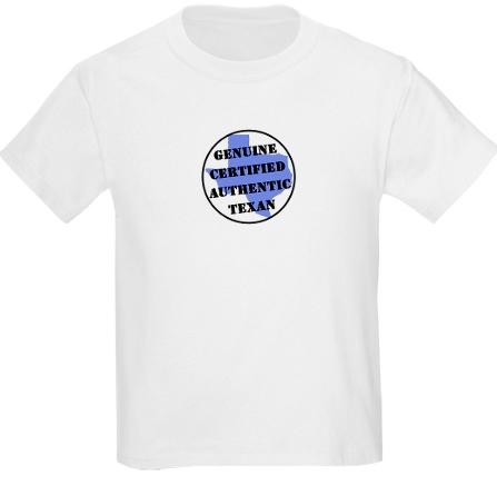 Certified Texan T-Shirt for Kids