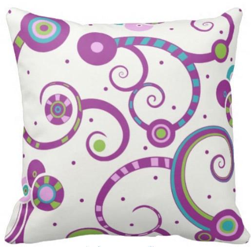 Plum Crazy Pillow
