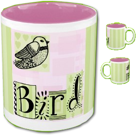 Pretty Bird Lovers Mug